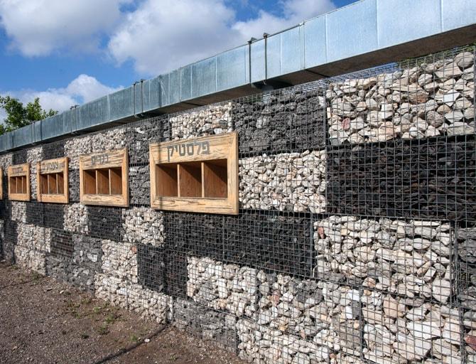 קיר מרכז המיחזור העירוני ברמת-גן